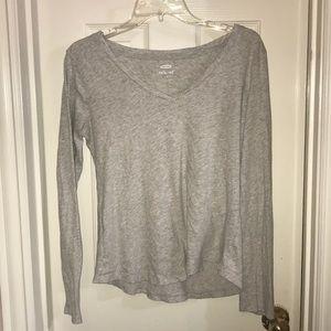 Old Navy Plain Grey long sleeve loose shirt